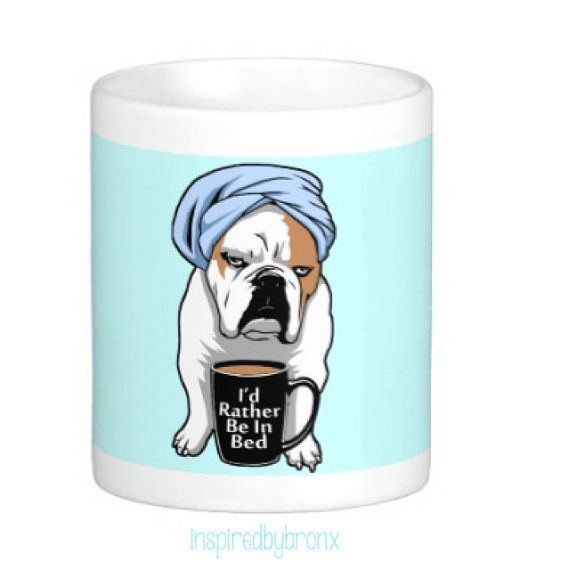 Bulldog Coffee Mug I Love English Bulldogs By Inspiredbybronx