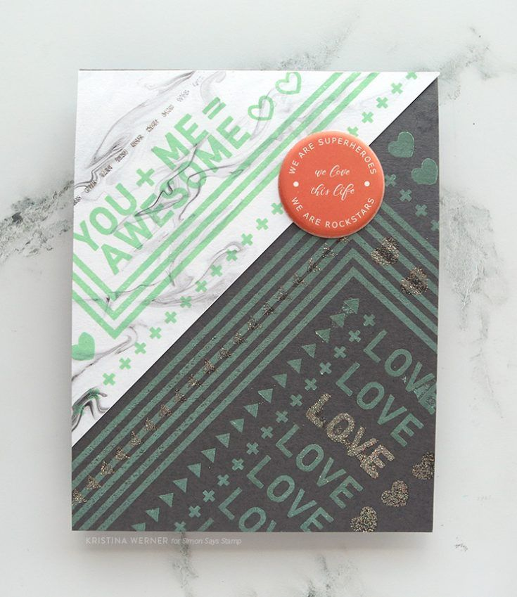 Pattern Stamping With August 2017 Card Kit (video)   Simon Says Stamp Blog