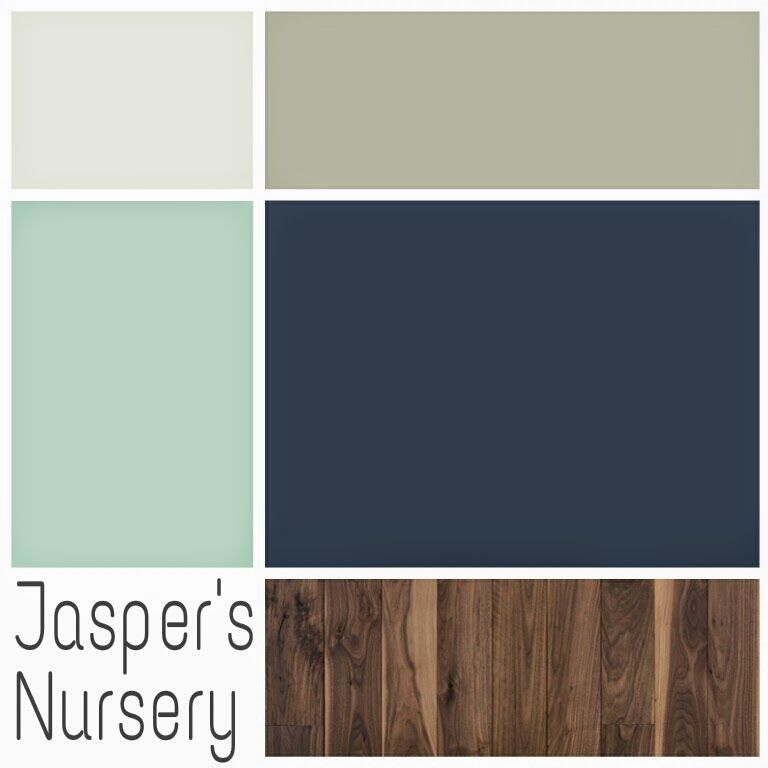 Spool and spoon navy gray and aqua woodland nursery Colors for toddler boy room