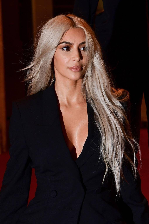Eyemakeupgold Kardashian Hair Blonde Hair Brown Eyes Kim
