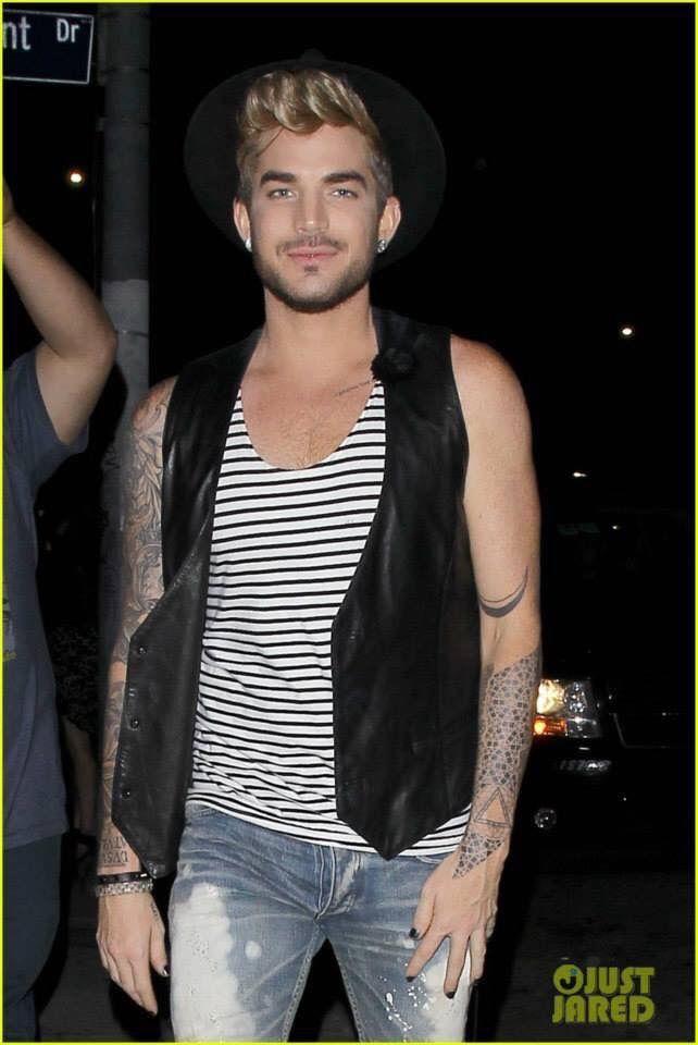 Adam Leaving A Club With Newly Blonde Hair Adam Lambert Kanye