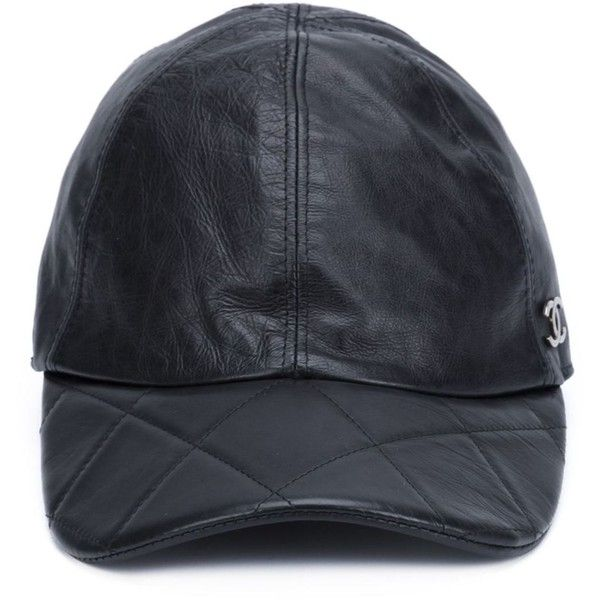 Chanel Vintage quilted baseball cap (€1.025) ❤ liked on Polyvore featuring  accessories bd196198238