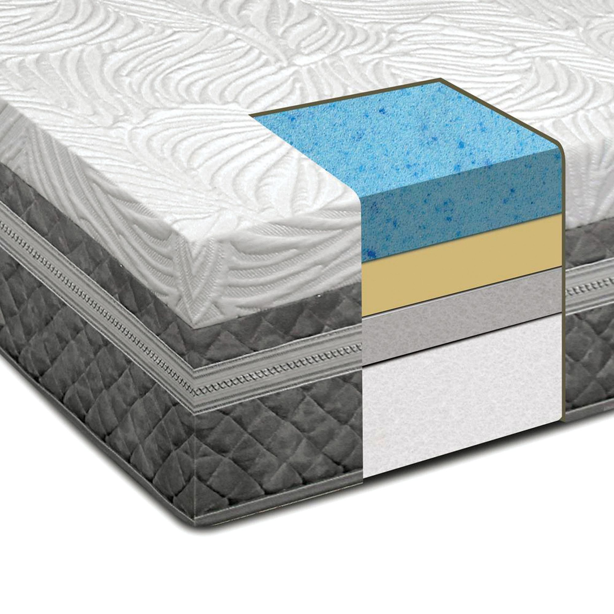 "Risetta 12"" Gel Memory Foam Mattress"