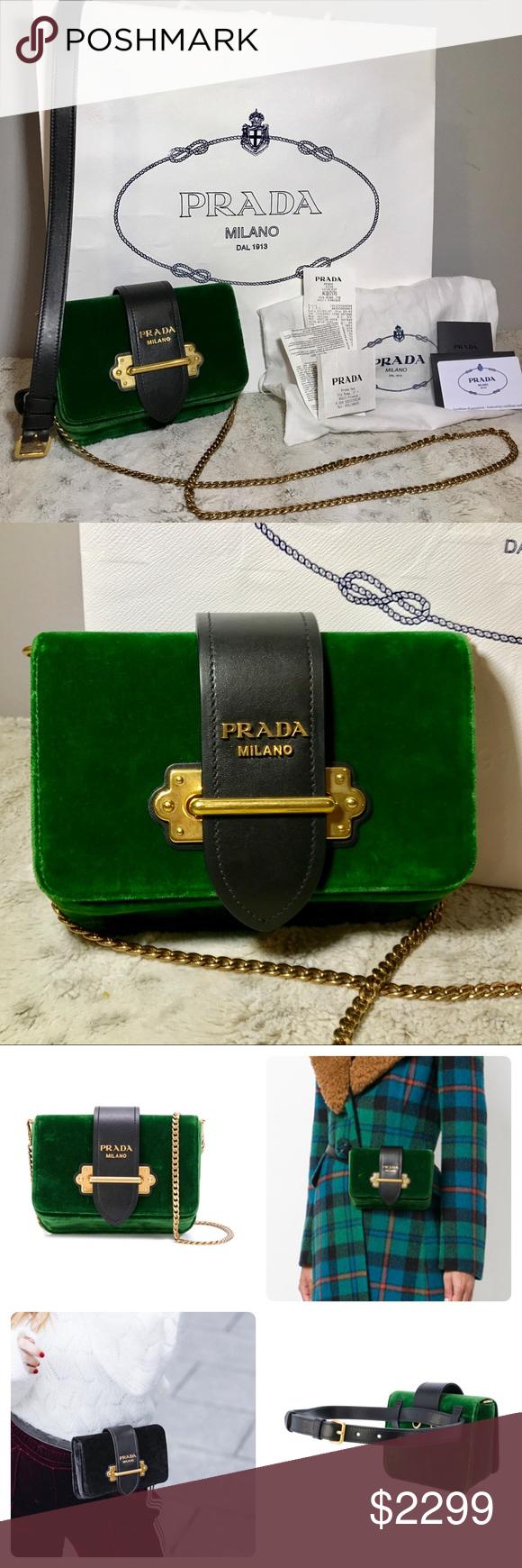 60d15721b430 ... best spotted while shopping on poshmark prada emerald velvet cahier  convertible belt bag poshmark fashion shopping