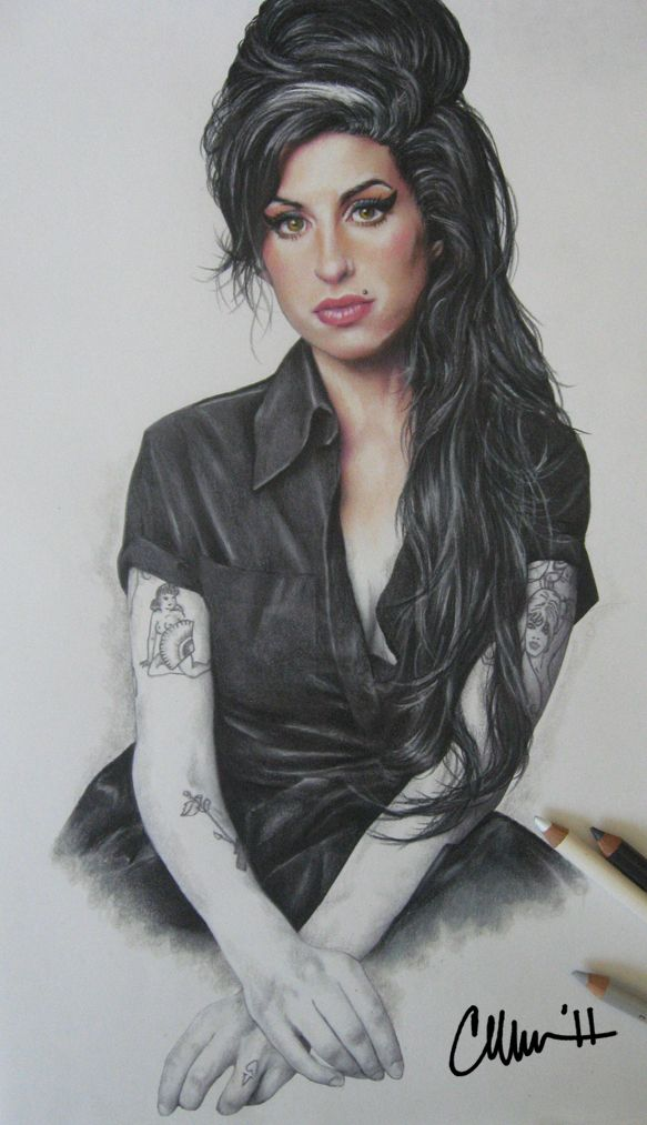 Amy Winehouse Drawing By Live4artinla On Deviantart Celebrities