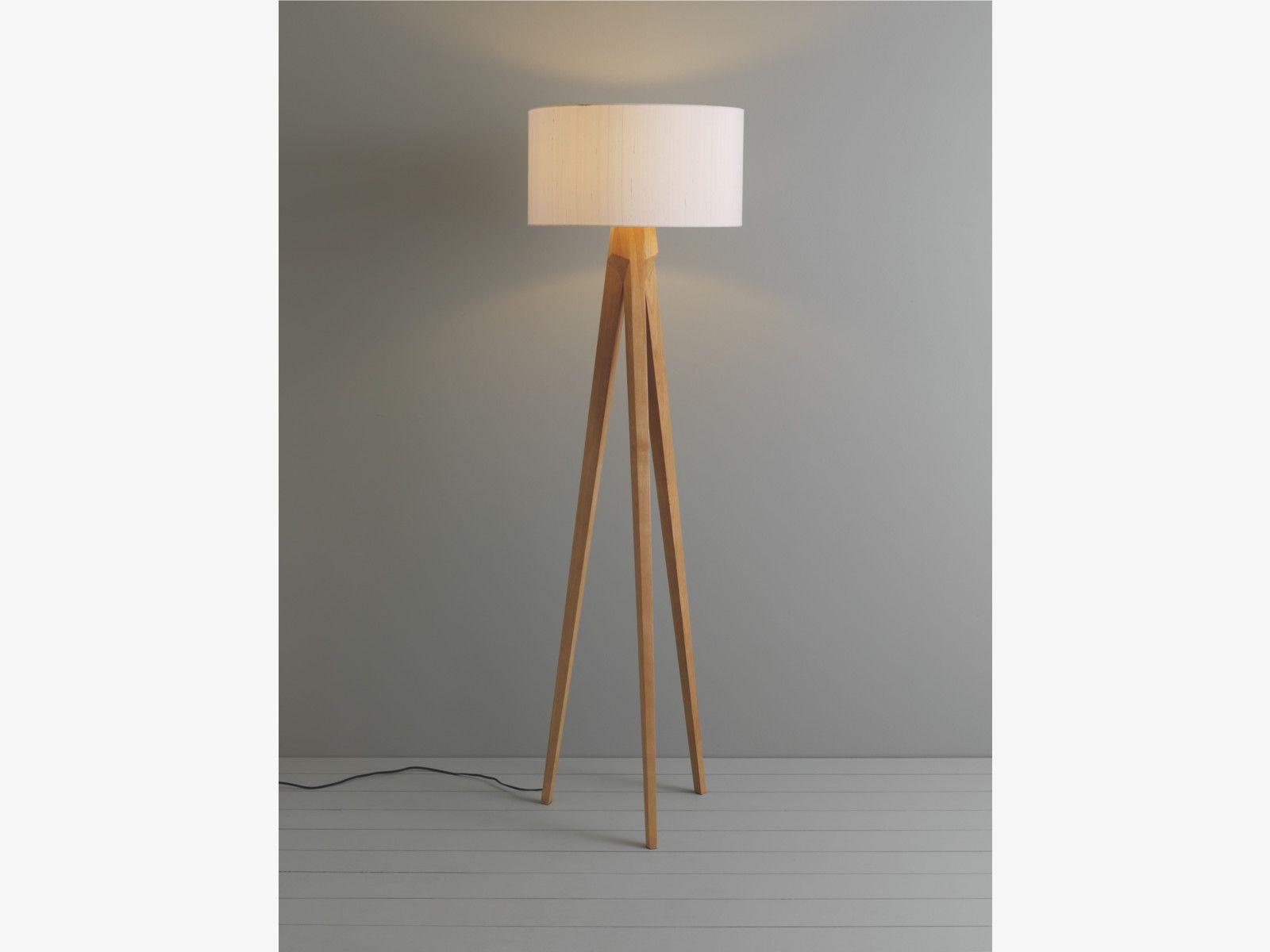 TRIPOD Ash wooden tripod floor lamp base