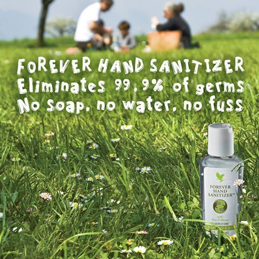 Forever Living Hand Sanitizer Keeps Hands Smooth Without Drying