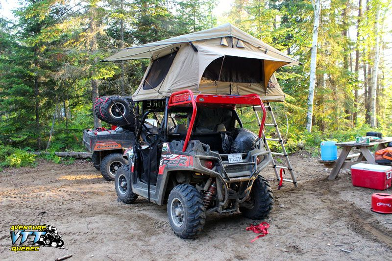 Compact Tent Topped C&ers come in all sizes and shapes. Side-by-side ATV + Roof Top Tent u003d Compact go anywhere Tent Topped C&er & Rzr Camping - Polaris RZR Forum - RZR Forums.net | www.mm ...
