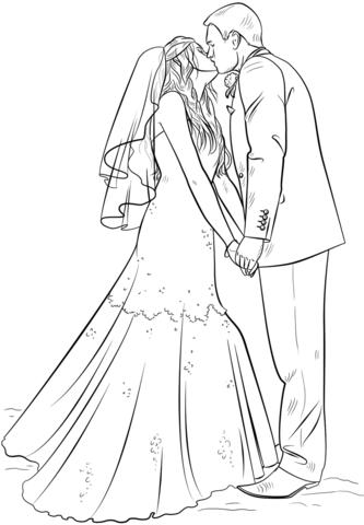 Bride And Groom Coloring Page Projekty Na Vyzkoušení