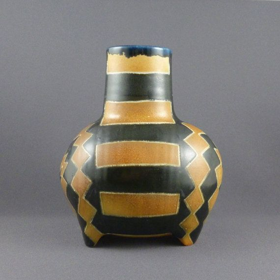 Donna Aguirre Anderegg studio pottery vase by PrairieDecArts