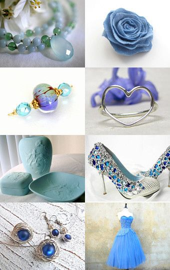 Handmade Fascination in blue by Monika on Etsy--Pinned with TreasuryPin.com