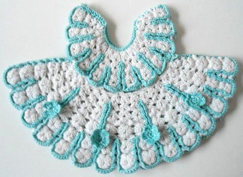 Vintage Blue & Yellow Potholder Crochet Patterns   Tejido, Ganchillo ...