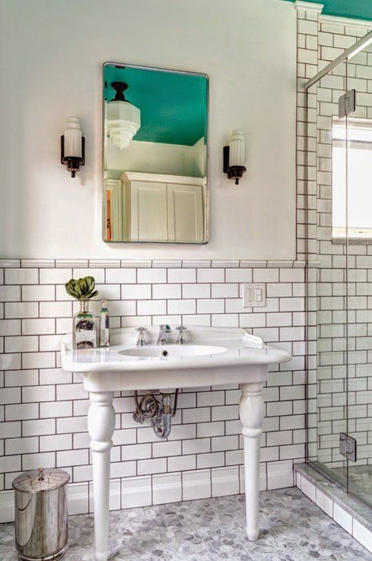 10 Interesting Things You Can Do With Plain White Tile Pinterest Tiles Baseboard And Bald Hairstyles