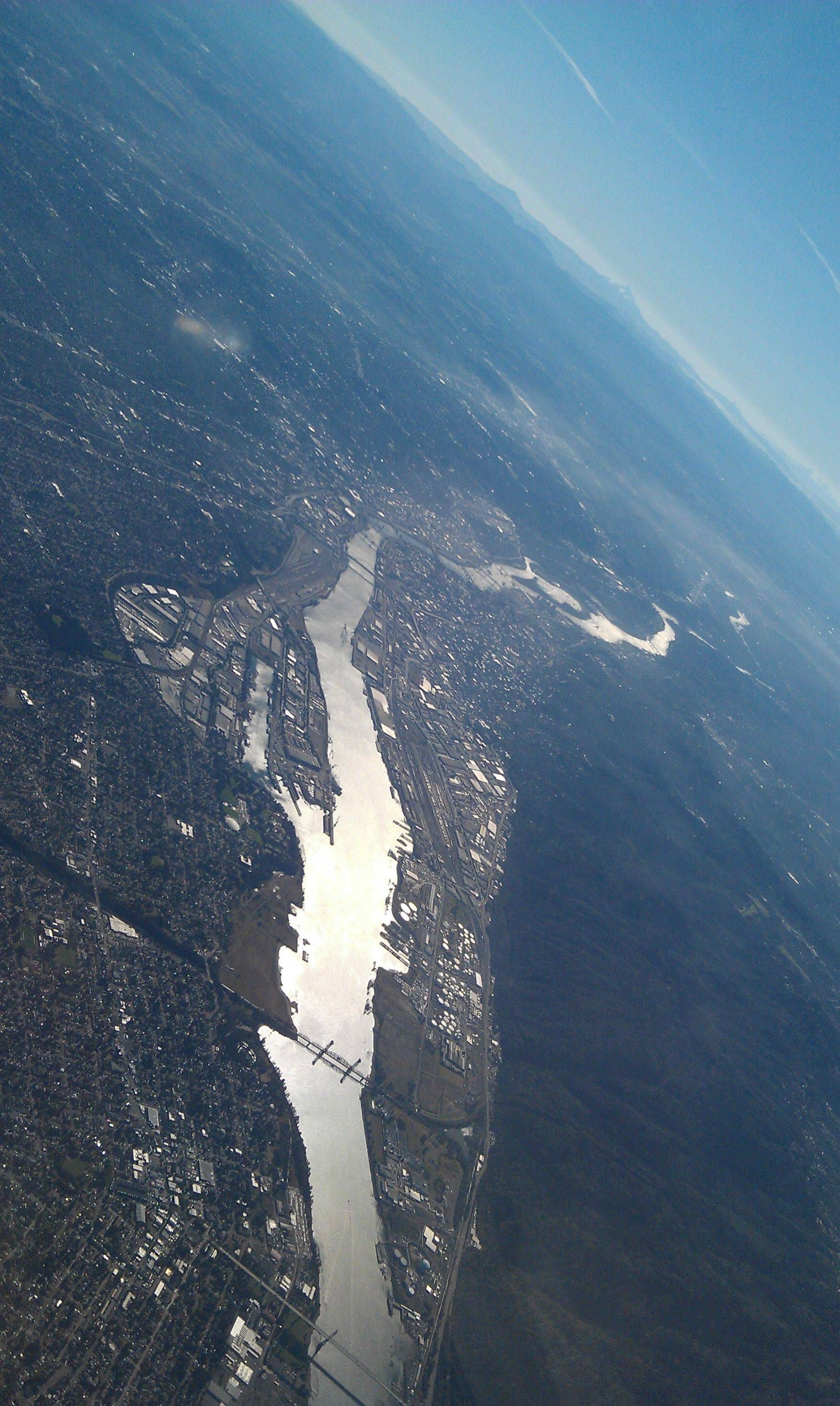 Portland, taken from the air