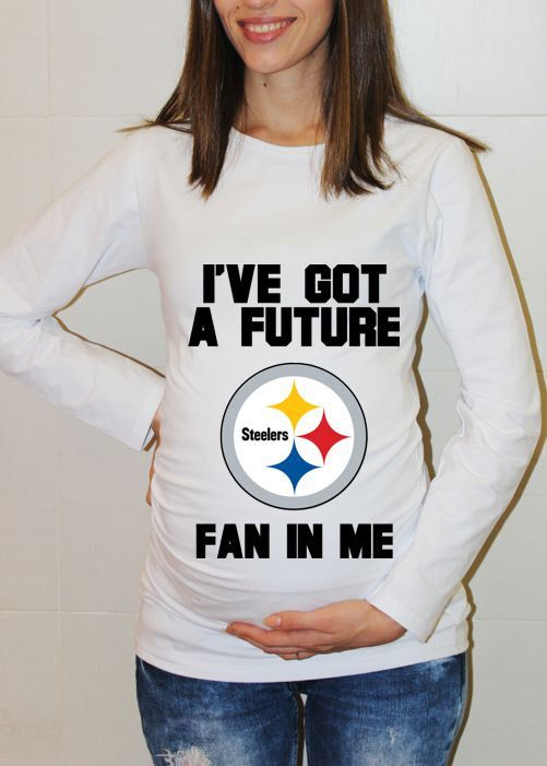 cb2be11fa Pittsburgh Steelers Baby Pittsburgh Steelers Shirt Long Sleeve Women  Maternity Shirt Funny Pregnancy Pregnancy Shirts Pregnancy