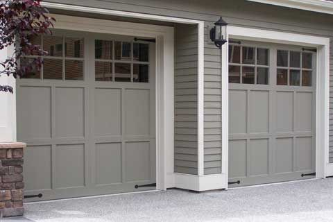 Garage Doors Painted Same Color As The House Blend In Garage Door Design Garage Door Paint Garage Door Styles