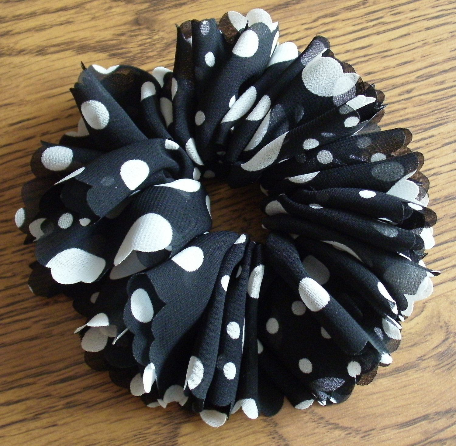 Hand Crocheted Fabric Yarn Hair Scrunchie Ponytail Holder by ...