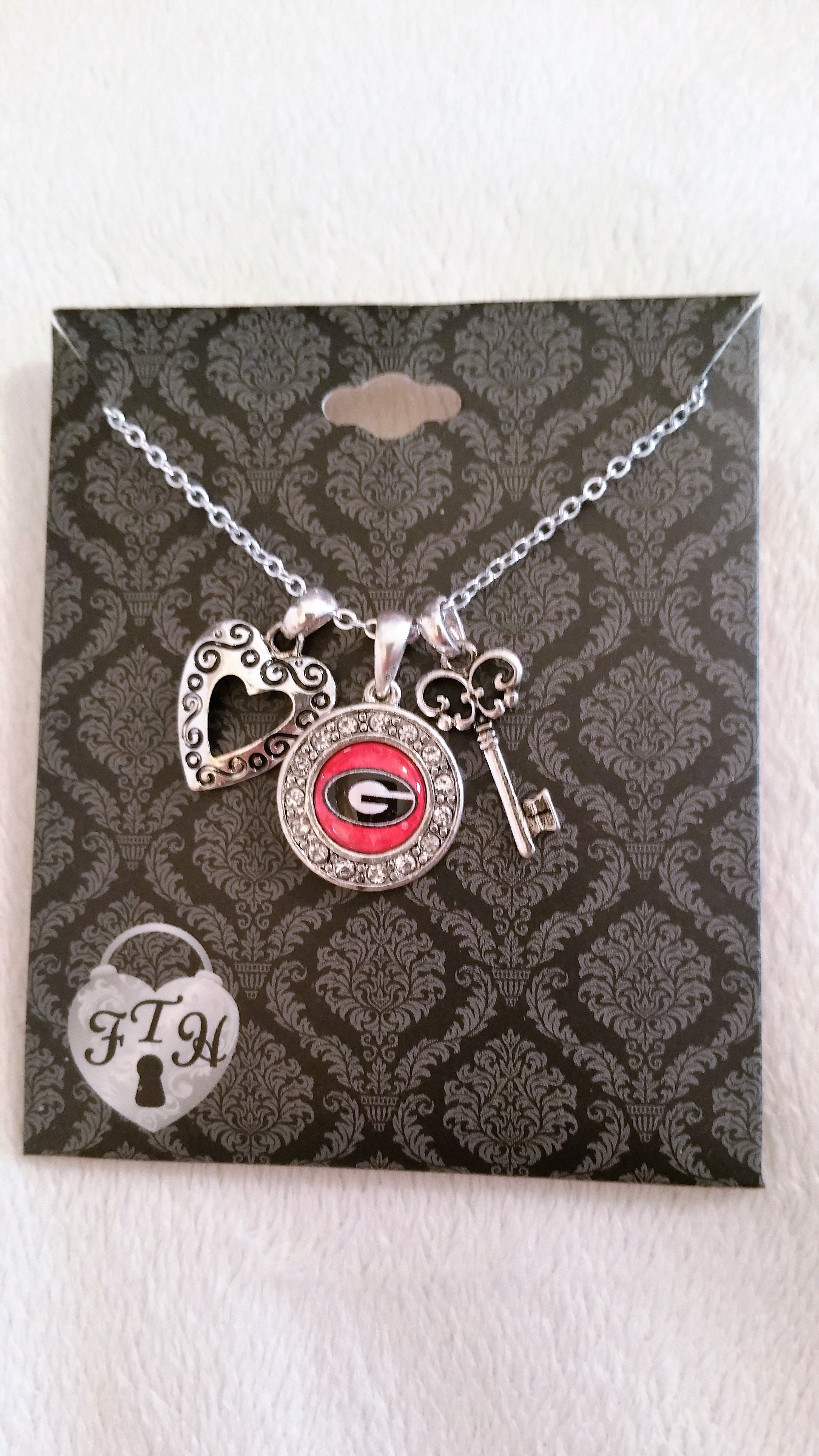 Georgia Heart & Key Necklace