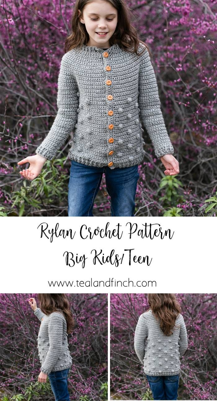 Rylan Cardigan for Big Kids and Teens » Teal & Finch