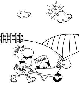 free coloring pages garden tools - photo#37