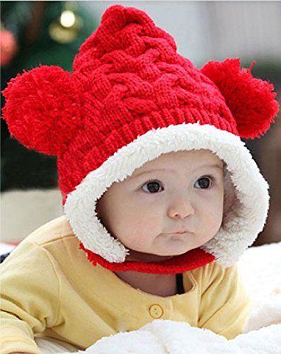 Atdoshop(TM) Schöne Jugendliche Baby Dual-Balls Mädchen Jungen Strickwolle Keep Warm Beanie Mütze Hut (rot) atdoshop http://www.amazon.de/dp/B00MXM1KWA/ref=cm_sw_r_pi_dp_KeOzub0NA8NGJ