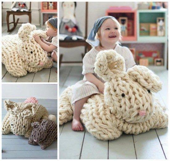 Arm Knit Bunny Pattern