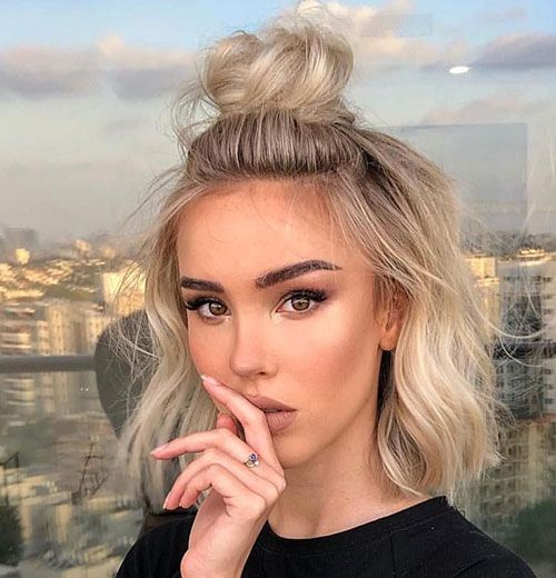 Cute Hairstyles For Short Hair Lilostyle In 2020 Short Hair Trends Short Hair Styles Easy Short Hair Bun