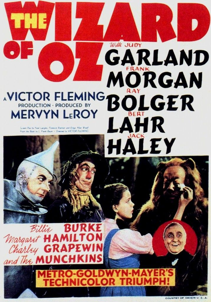 """""""The Wizard of Oz"""" 1939."""