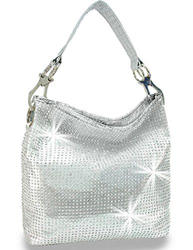 Zzfab All Sparkle Purse Rhinestone Handbags Bling Hobo Bag Silver Visit The Image Link More Details