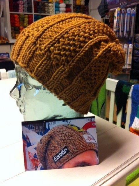 Tolle gestrickte Mütze mit wunderbarem Muster. | Stricken ...