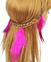 Pink Ostrich Feather Hair Clip $7.00