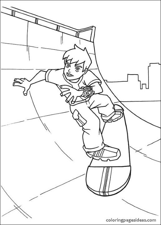 Ben 10 Watch Coloring Page