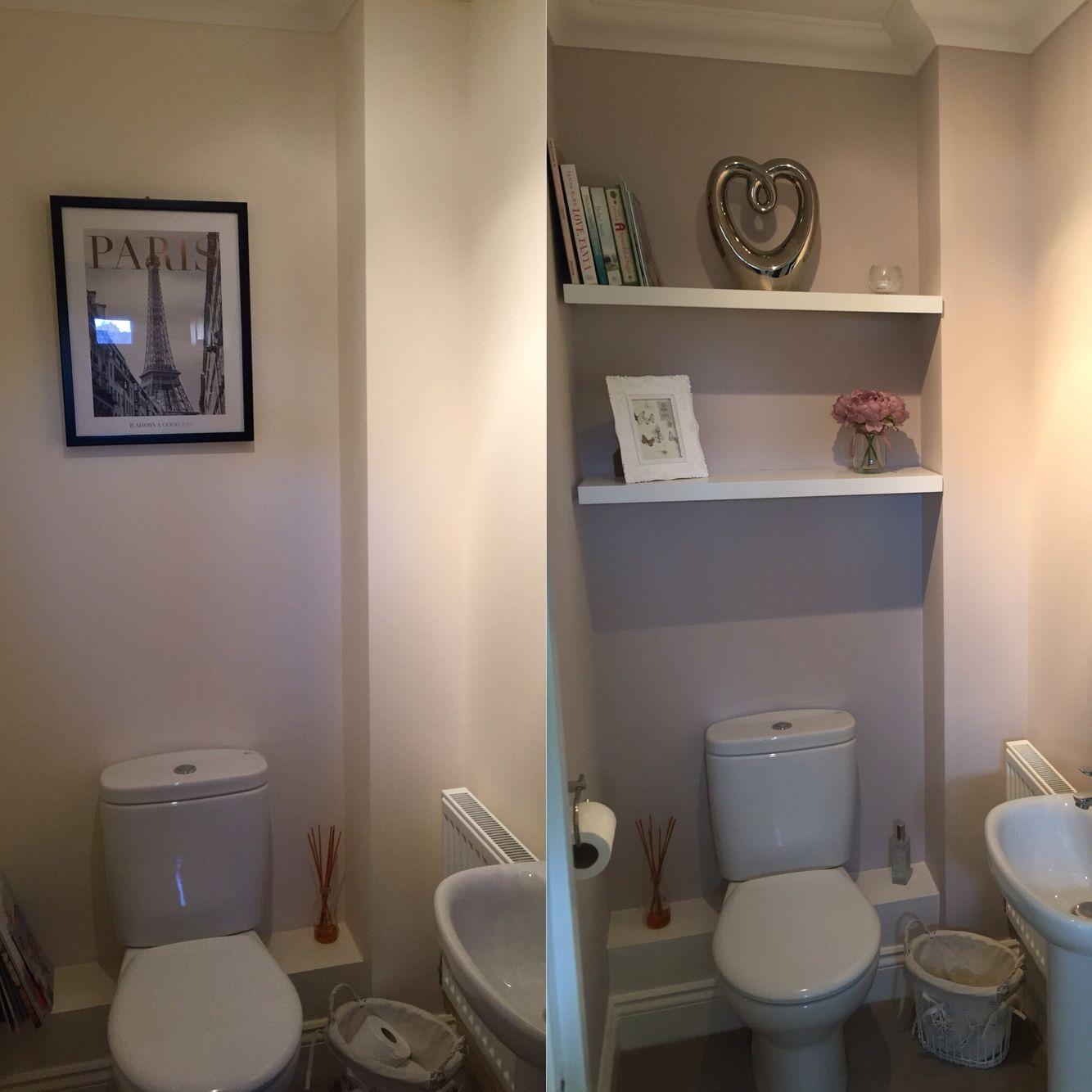 Bathroom Sinks Homebase homebase cosy mocha matt emulsion. before & after. | tuvalet