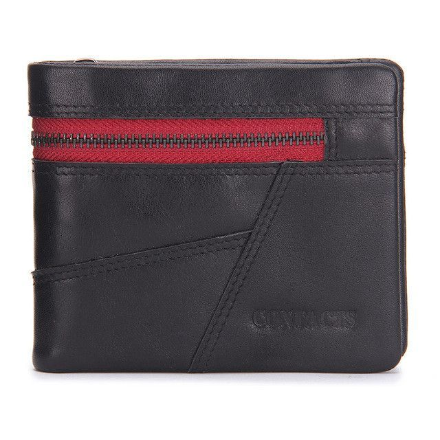Vintage Men Wallet Genuine Leather Patchwork Men Purse High Class Small Wallet With Deleted Coin Pocket Photo Holder