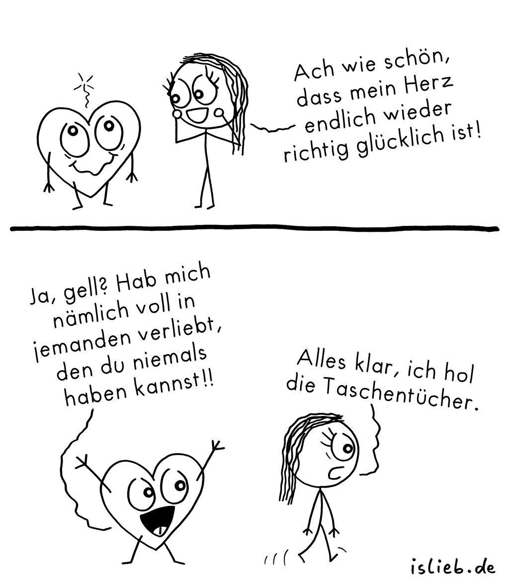 Wie schön | Herz-Comic | is lieb?