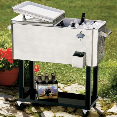 Cabela's Stainless Steel Patio Cooler, Coolers, Camp Essentials, Camping : Cabela's