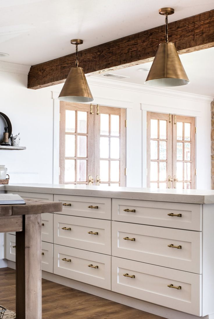 Classic Brass Cabinet Hardware from The Home Depot | White farmhouse ...