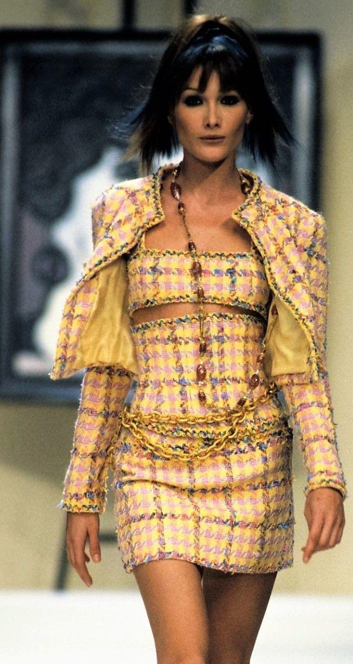 Carla Bruni Chanel Spring Summer 1994