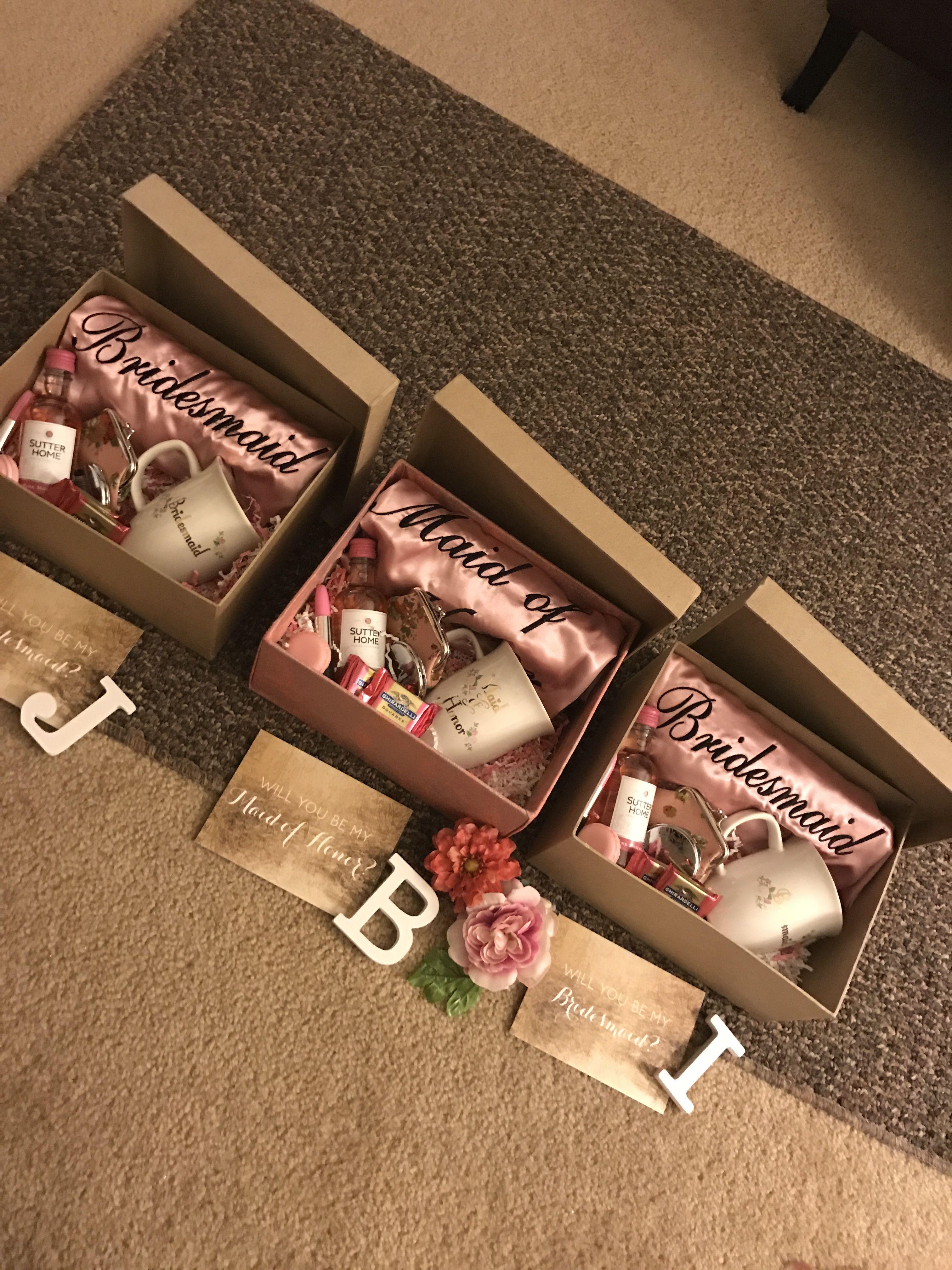 Bridesmaid proposal gifts for wedding party bridesmaid