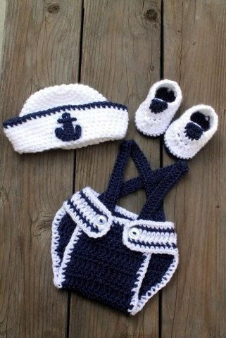 Cute Little Sailor Nautical Set Comes With A Sailor Hat