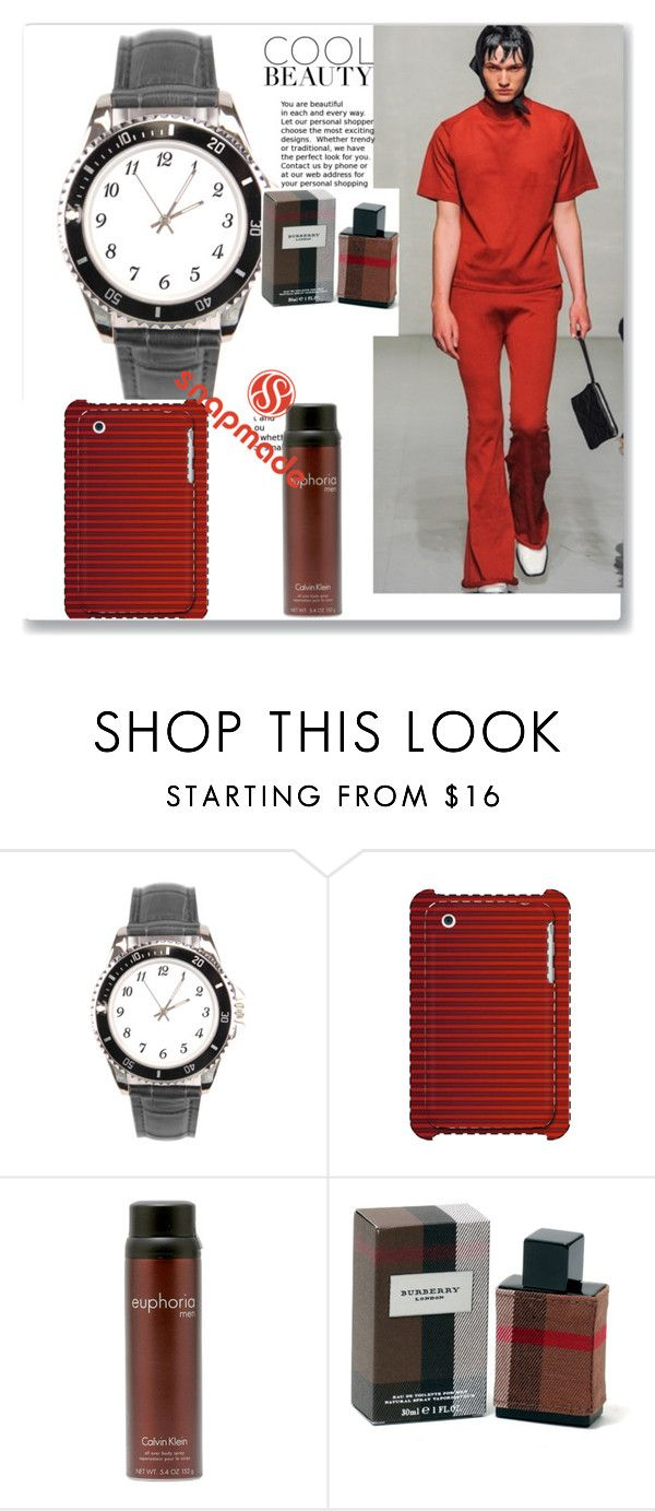 """""""Snapmade #5/3"""" by spolyvore1 ❤ liked on Polyvore featuring Calvin Klein, Burberry, men's fashion and menswear"""