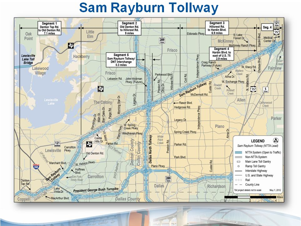 Texas 121 Toll Road Map Sam Rayburn Tollway, formerly known as State Highway 121 or 121