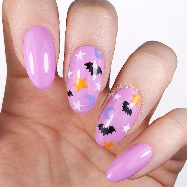 #Art #Cute #Halloween #Nail #Nails #pastelpattern