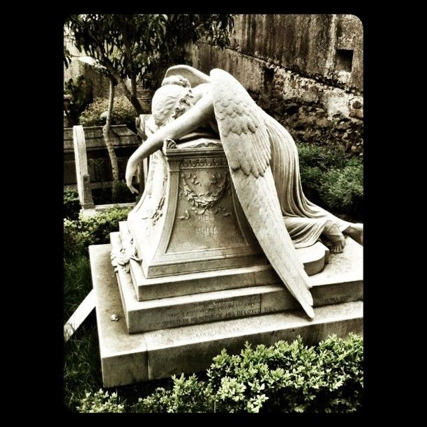 graveyard in Rome. Just loved this grieving angel.