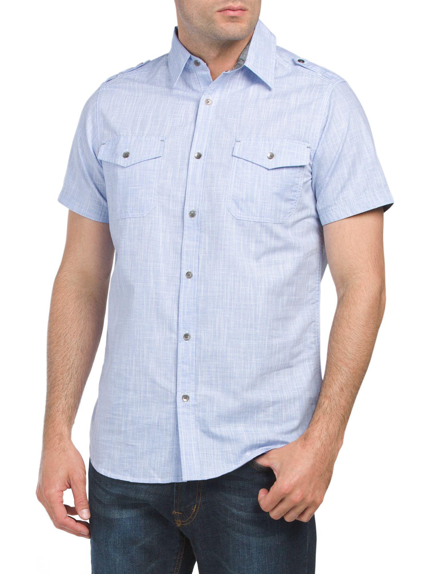 Short Sleeve Slub Knit Shirt