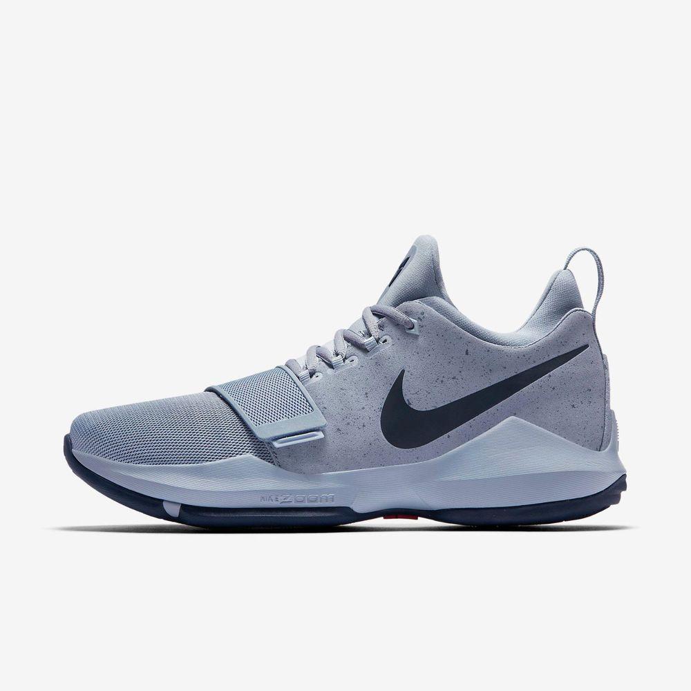 Nike PG 1 Mens Basketball Shoes 13 Glacier Grey Navy
