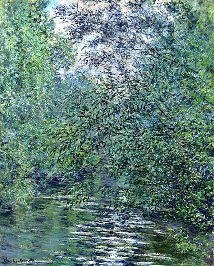 رائعة من روائع الفنان كلود مونيه !!             Claude Monet. The Willows on the River ().