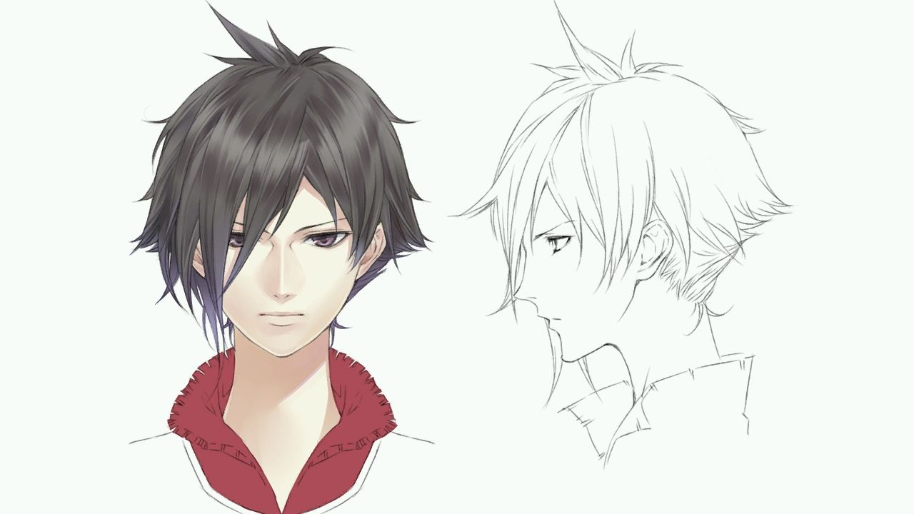 Boy hairstyle sketch latest   manga pelo  pinterest  character design game