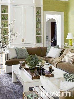 Pin von Kate Roedel auf WOODWORK Pinterest - wohnzimmer in grun und braun