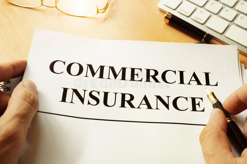 Commercial Insurance Form Commercial Insurance Form On A Table
